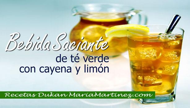 Nueva Dieta Dukan Bebida Saciante de Té Verde, cayena y limón