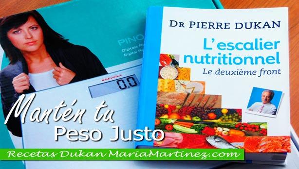Nueva dieta Dukan: como mantener el peso perdido con la Escalera Nutricional