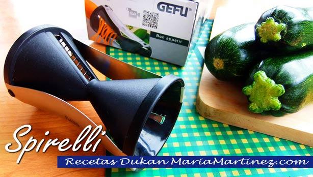 Pasta Dukan: espaguetis de calabacín (Crucero PV) Cortador Gefu Spirelli