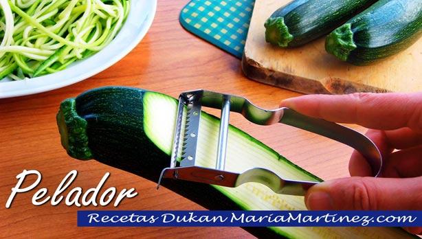 Pasta Dukan: espaguetis de calabacín (Crucero PV) Pelador en Juliana