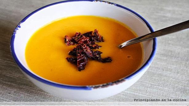Recetas Dukan con Tomates Secos:  Crema de verduras con tomates secos