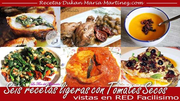 Recetas Dukan con Tomates Secos