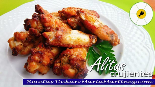 Alitas de pollo crujientes en horno o en olla gm ataque recetas dukan maria martinez - Adobo de alitas de pollo ...