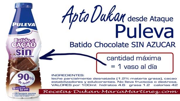Batido Puleva Light de Chocolate SIN Azúcar: apto para la dieta Dukan desde fase Ataque