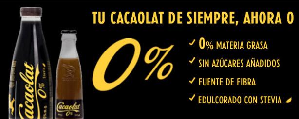 Cacaolat 0% apto Dukan desde fase Ataque