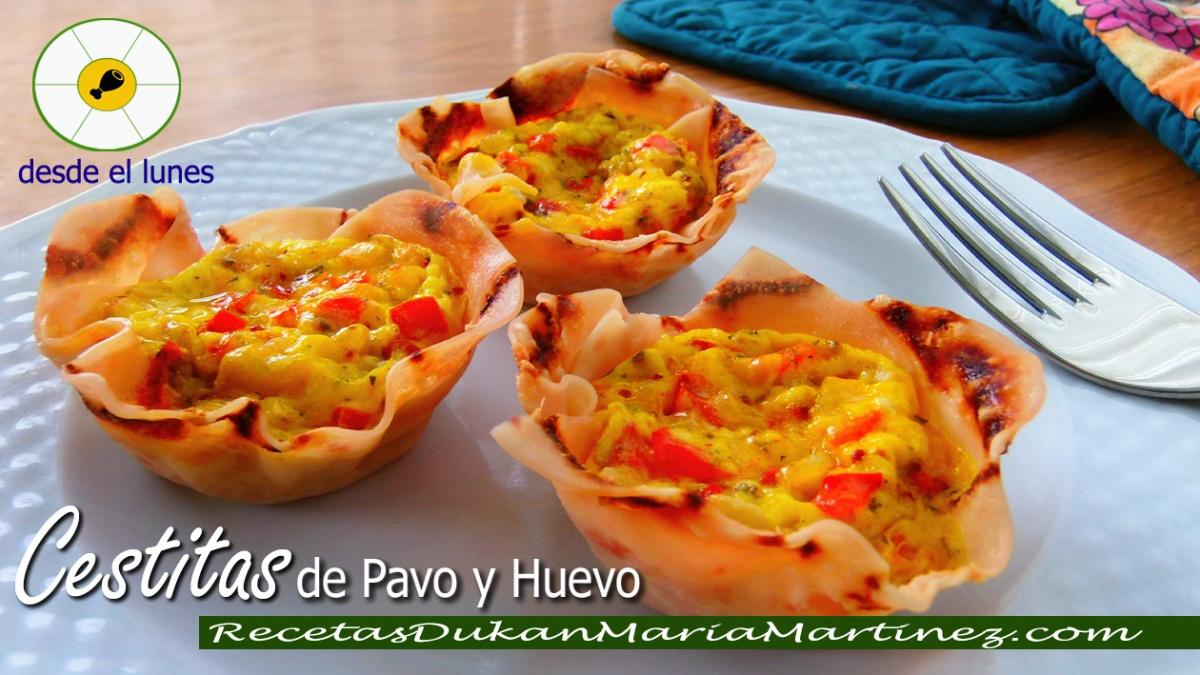 Desayunos Dukan: Cestitas de pavo y huevo (Ataque