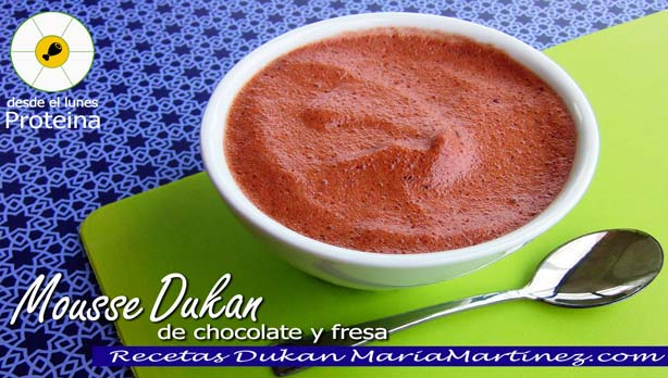 Mousse Dukan de Fresa y Chocolate (fase Ataque o fase Crucero)
