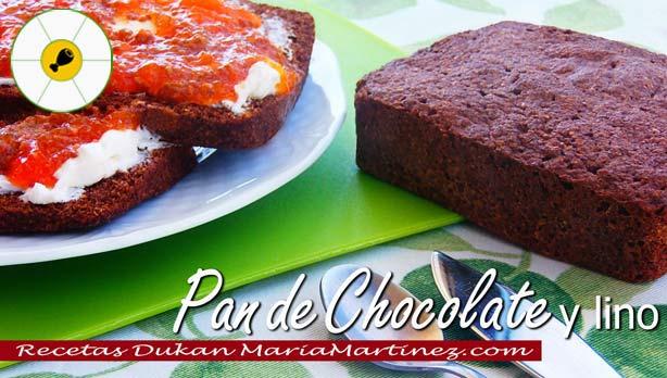 Pan Dukan de Lino y Chocolate {Desayuno dieta Dukan}