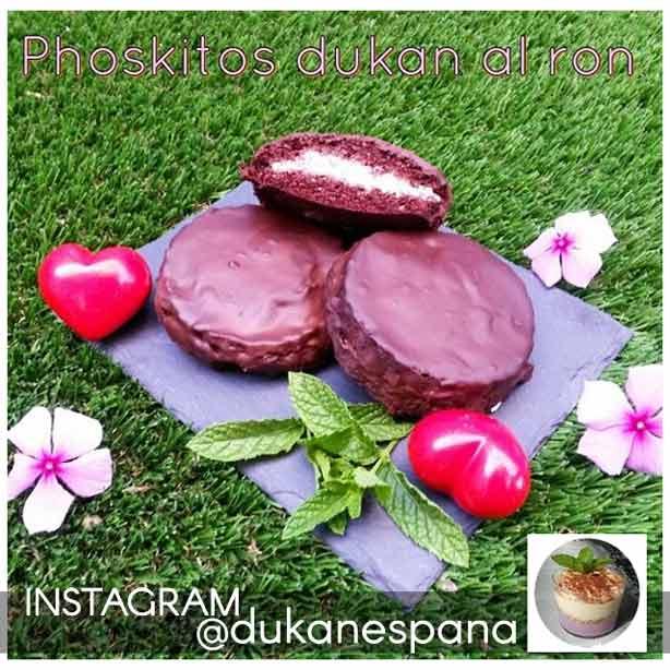 """Postres Dukan: """"phoskitos"""" Dukan hechos con pan de lino y chocolate"""