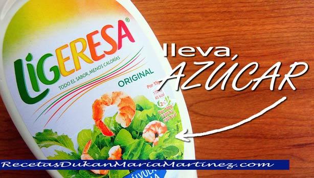 Mayonesa Ligeresa ¿Dukan? Cuidado, lleva azúcar y frena la pérdida de peso