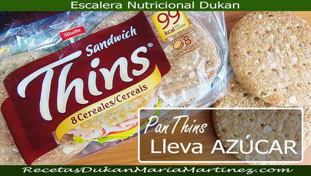 Pan Thins NO Dukan: atención, lleva azúcar en la lista de ingredientes