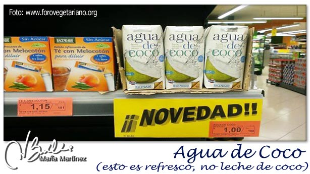 Agua de Coco Mercadona, es refresco no leche de coco:  no apto