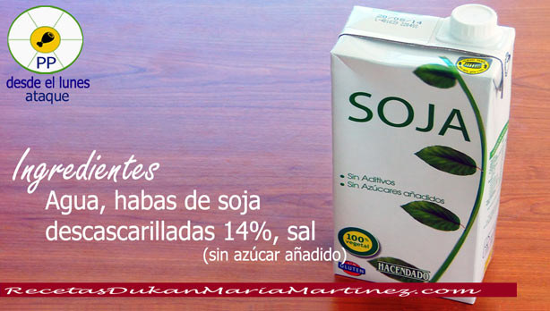 Leche Dukan ataque: leche de soja, leche de avena