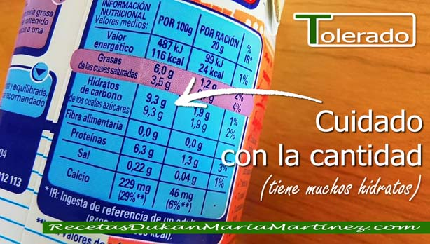 Nata apta Dukan:  Leche evaporada Nestlé Ideal 6% materia grasa (Tolerado, Crucero)