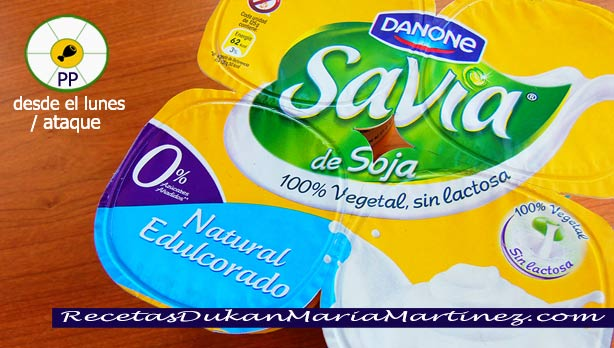 Yogures Savia de Soja Danone, aptos Dukan desde Ataque