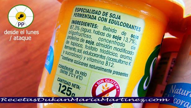 Savia Danone Ingredientes (dieta Dukan)