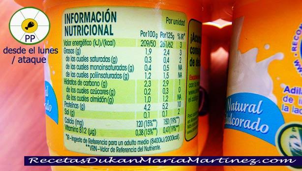 Savia de Danone, Valores nutricionales