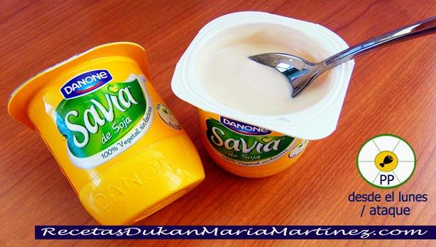 Yogur de Soja apto dieta Dukan desde Ataque (máximo 2 al día)