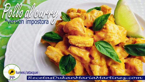 Pollo al Curry Dukan, para Ataque o Crucero (superfácil)