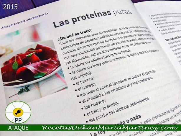Dieta Dukan, resumen fases: 1, Ataque. Las proteínas puras