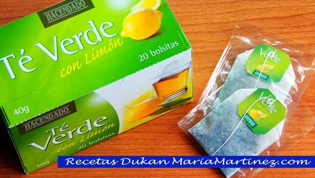 Bebida adelgazante de té verde (dieta Dukan)