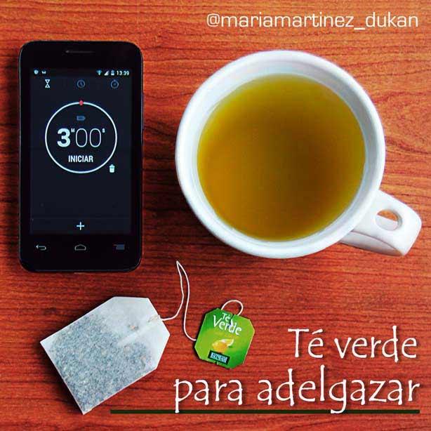 Té verde con  jengibre para adelgazar (dieta Dukan)