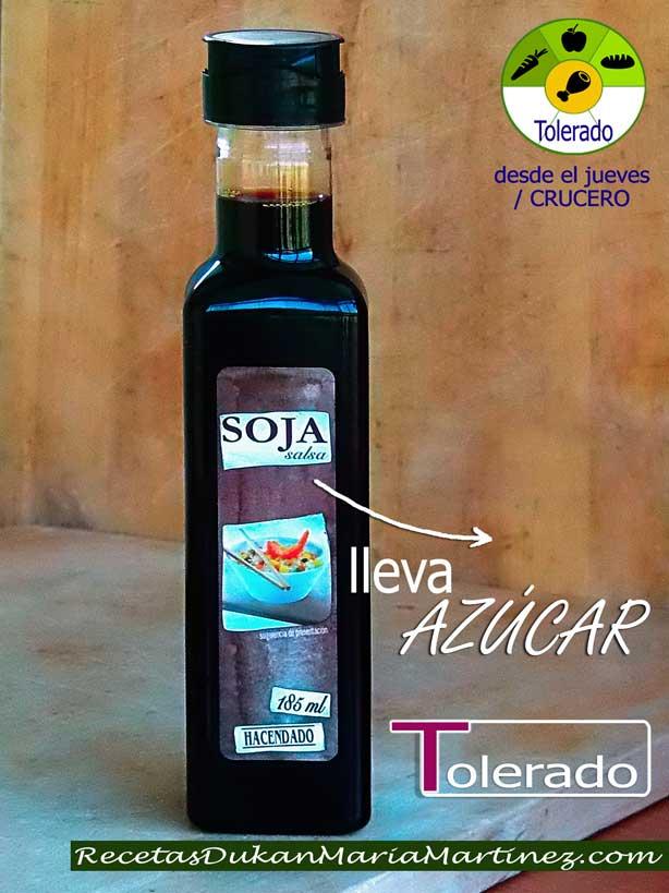 Salsa de Soja y dieta Dukan ¿qué marcas son aptas desde Ataque?