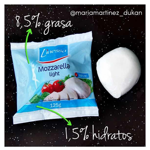 Dieta Dukan en Instagram: mozzarella apta Dukan en Lidl