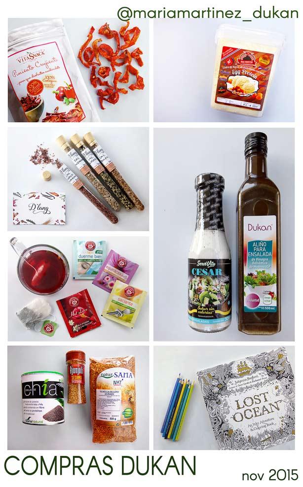 Lista de la Compra Dukan: mis compras del mes
