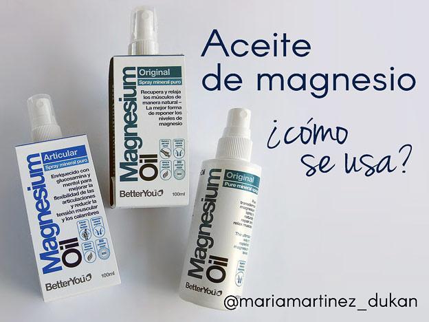 ¿Cómo se usa el Aceite de Magnesio?