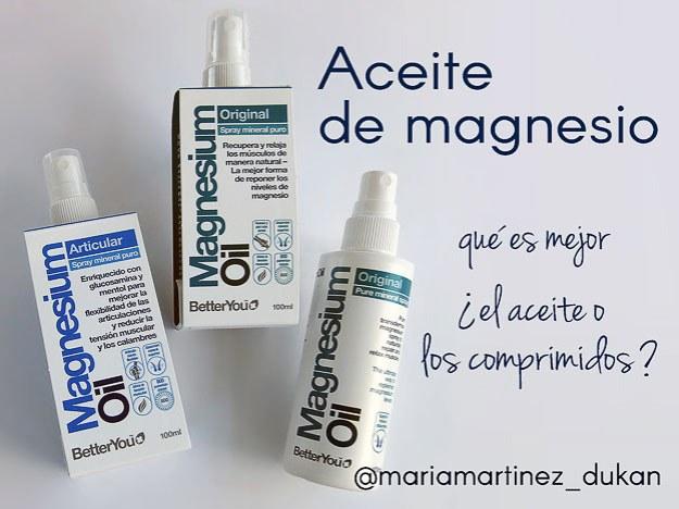 Aceite de Magnesio o comprimidos, ¿qué es mejor?
