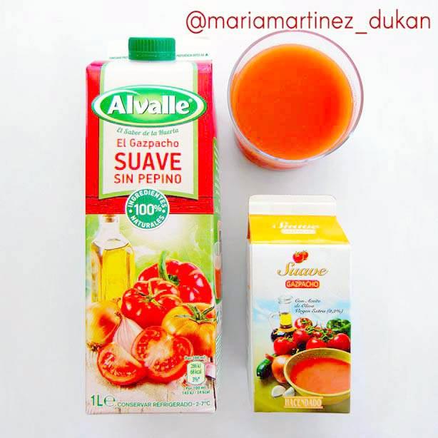 Gazpacho apto dieta Dukan: cómo saber si un gazpacho es apto